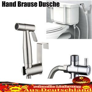 Hand Brause Dusche mit Schlauch Adapter Brausehalter Bidet Toilette WC DE
