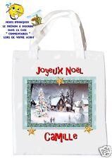 sac shopping noël sac à commissions sac à cadeaux joyeux noel réf 203