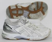 Asics Gel Rocket 5 Volleyball Shoes B053N White Gray Silver Womens Size 8 EUC