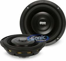"2) Earthquake Sound SWS-6.5X 200W 6.5"" Single 4 ohm Shallow Car Subwoofers"