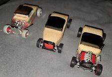 (3) 2009 Automoblox Calello Hot Rod's Wooden Cars