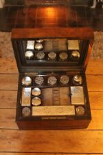 Antique Dresser Box With Silver Plated Fittings and American Walnut Box