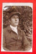 """CASABLANCA PHOTO """" MILITAIRE AVEC CASQUE COLONIAL """" 1925"""