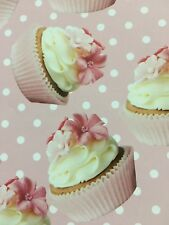 One Shabby Chic Sweet Looking Cup Cake Gift Wrapping Paper - Folded