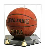 Deluxe PRO UV Protected Full Size Basketball Football Display Case Stand