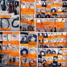 Huge Wholesale Lot of assorted Tech/Av Cables, 125 items, Msrp over $1200!