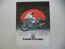 advertising Pubblicità 1982 MOTO BMW R100 R 100 RS