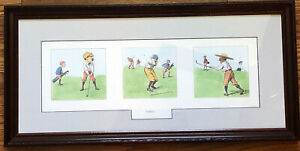 A.B. Frost Golf - FORE!!! -Print Matted & Framed Vintage Art