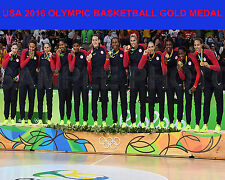 2016 USA Women's Olympic Basketball Gold Medal RIO Brazil 8x10 Team Photo #3