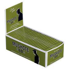 Muskote grün Papier 50x60 Blatt/Blättchen/Drehpapier/Zigarettenpapier