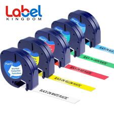 5 Pk Dymo Letra Tag Refills 12 Plastic 12mm Label Tape 91331 91332 91333