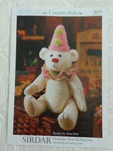 Alan Dart Heritage Bear Collection Sirdar 3073