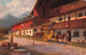 Postkutsche Oberbayrische Landschaft ngl 161.115