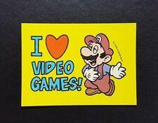 1989 Topps Nintendo Sticker : I Love Video Games (Mario) - Tips No.16