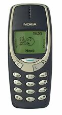 BLUE RETRO NOKIA 3310 MOBILE PHONE - UNLOCKED WITH A NEW BATTARY AND WARRANTY.
