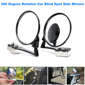 Car Blind Spot Side Left + Right 360 Degree Rotation Mirror Wide Angle Lens View