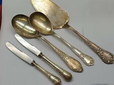 ROKOKO Besteck 100er Silberauflage diverse zusatzteile 5 teile versilbert  antik