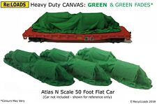 GREEN 'Canvas' Tarped Covered Sheeted Model Road Rail Load Large N Smaller HO OO