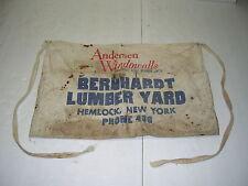 VINTAGE BERNHARDT LUMBER YARD CARPENTER APRON, HEMLOCK NY (PHONE 436)