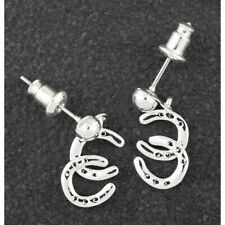 Equilibrium 299221 - SILVER PLATED DANGLE STUD EARRINGS - Country Horse Shoes