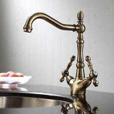 ENKI Traditional Georgian Antique Bronze Brass Kitchen Sink Mixer Tap VICTORIA