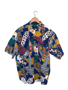Vintage Rare 80/'s Henry Grethel Over The Top Long Sleeve Button Down Rockstar Hippie Boho Pattern Shirt
