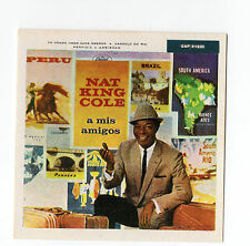 1960 Spanish Film Star Card American Unforgettable Baritone Singer Nat King Cole
