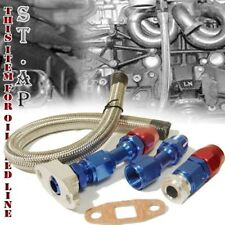 T3/T4 T04E T70 GT45 GT30 Turbo Oil Drain Line Kit Oil Return Line 10AN Fitting