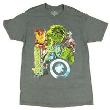 MARVEL T-Shirt Avengers Age of Ultron Black Widow Hawk Eye Quicksilver Hulk Thor