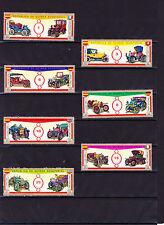 """Äquatorialguinea 1 Satz (7 Marken) gestempelt """"Alte Automobile"""" siehe Scan (255)"""