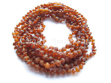 Amber Wholesale, Lot of 10 Cognac Color Raw Baltic Amber Baby Necklaces