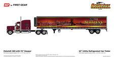 """Peterbilt 389 70"""" Tractor Reefer Trailer 1/64 Diecast DCP First Gear Scotlynn"""