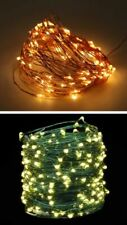 100 LED 10M Twinkle Wire Fairy Lights String Outdoor Indoor Warm White Battery