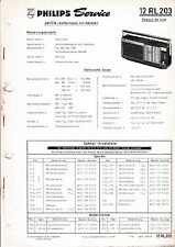 Service Manual instructions for Philips 12 RL 203,Passar de Luxe