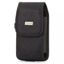PREMIUM RUGGED CANVAS CELL PHONE CASE METAL BELT CLIP HOLSTER COVER ID SLOT P01