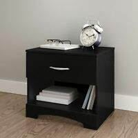 Nightstand Bed Side Table Lamp Stand Drawer Shelf Bedroom Wood Modern Furniture