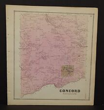 New York Erie County Map Concord Township  c1866  W12#10