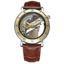 Luxury Men's Skeleton Bridge Top Brand Automatic Mechanical Steampunk Wristwatch