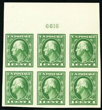 408, Mint NH XF 1¢ TOP Plate Block of Six Stamps - Stuart Katz