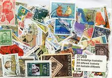 LOT TIMBRES OCEANIE / AUSTRALIE : 200 TIMBRES TOUS DIFFERENTS / STAMPS AUSTRALIA