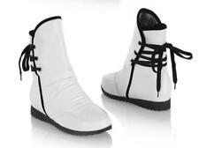Fashion Women Ankle Boots Wedge Heels Round Toe Lace Up Causal Shoes Plus Size