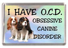 "Cavalier King Charles Spaniel Dog Fridge Magnet ""I HAVE O.C.D.""  by Starprint"