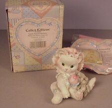 Enesco Calico Kittens figurine Love's Special Delivery Mib #628425-1992 baby #2