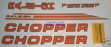 Raleigh Chopper Mk2 Decal Set in Gloss Orange