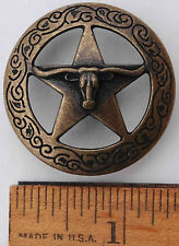 "1.5""  Steer  Star  &  Etched  Garland  Concho  Cowboy  Equestrian  Western Rodeo"
