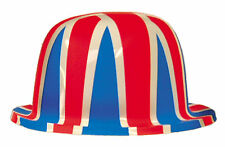 12 UNION JACK BRITISH PLASTIC BOWLER HATS ROYAL WEDDING / ARMED FORCES DAY