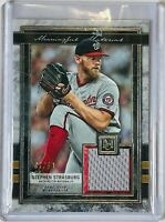 STEPHEN STRASBURG 2020 TOPPS MUSEUM GAME USED RELIC CARD WASHING NATIONALS #d/50