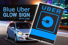 Professional-Grade Glowing Blue Illuminated Uber Logo Light Sign (New 2016 LED)