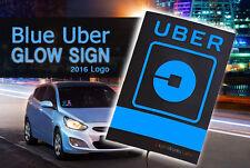 Professional-Grade Glowing Blue Illuminated Uber Logo Light Sign (New 2016 LED)