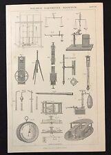 Antico libro di stampa 1883 AGRICOLTURA, ARATRO ZAPPA Clod-Crusher Coltivatore